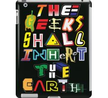 The Geeks Shall Inherit The Earth iPad Case/Skin