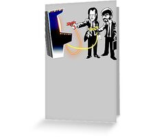 Pulp Fiction Banksy Greeting Card