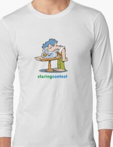 staring contest Long Sleeve T-Shirt