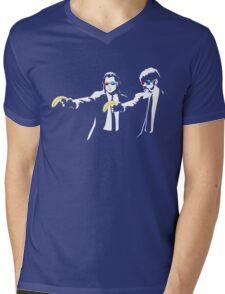 Pulp Fiction Banksy Mens V-Neck T-Shirt