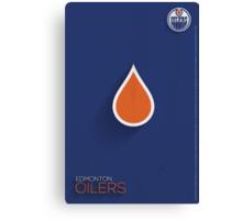 Edmonton Oilers Minimalist Print Canvas Print