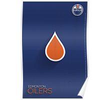 Edmonton Oilers Minimalist Print Poster