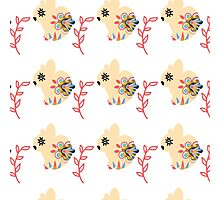 Bunnyes pattern Photographic Print