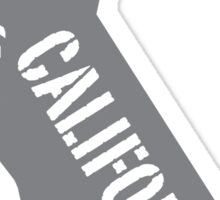 California state bear flag illustration - grey Sticker