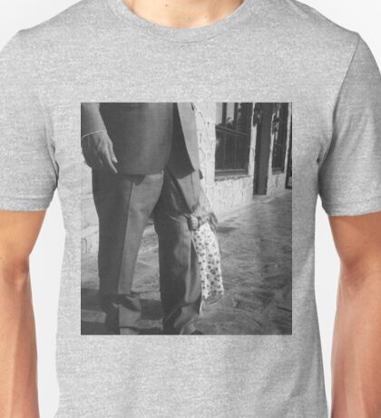 Portrait of girl hiding black and white film silver gelatin fine art analog wedding photo child portraiture Unisex T-Shirt