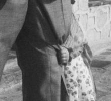 Portrait of girl hiding black and white film silver gelatin fine art analog wedding photo child portraiture Sticker