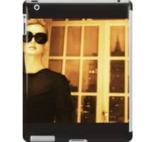 Portrait of female shop dummy store fashion mannequin sepia black and white film silver gelatin analog photo iPad Case/Skin
