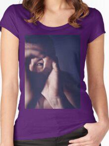 Self portrait photographer Edward Olive ra4 darkroom handmade print c41 color negative analog film photo Women's Fitted Scoop T-Shirt