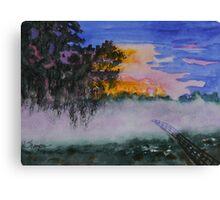 Fog at Sunrise Canvas Print