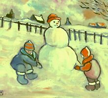 The Snowman by sword