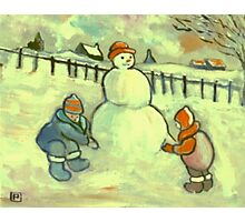 The Snowman Photographic Print