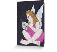 Fairy with Green Easter Egg Greeting Card