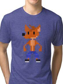 Crash Bandicoot Pixel Tri-blend T-Shirt