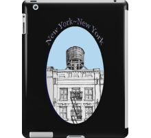 NYC-Water tower above SoHo building iPad Case/Skin