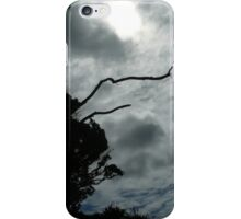 Sun shadows through trees and clouds iPhone Case/Skin
