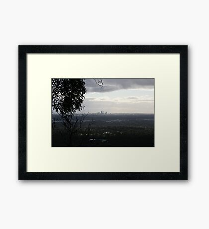 View from perth hills. Framed Print
