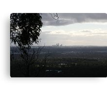 View from perth hills. Canvas Print