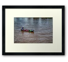 The boat of knowledge Framed Print