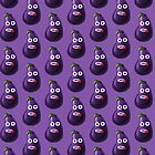 Purple Funny Cartoon Eggplant Pattern Case by Boriana Giormova