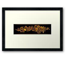 gold indian border Framed Print