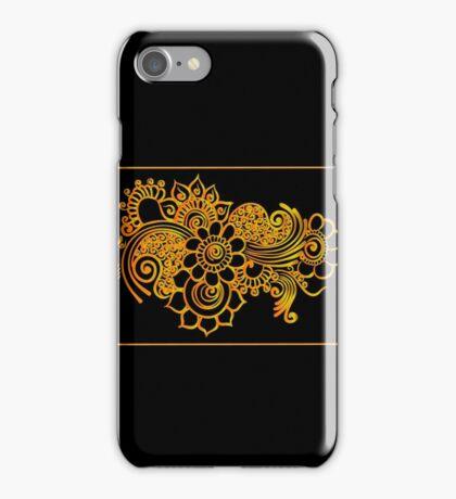 gold indian border iPhone Case/Skin
