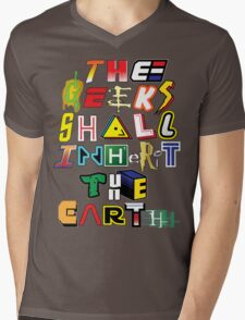 The Geeks Shall Inherit The Earth Mens V-Neck T-Shirt