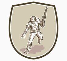 American Soldier Serviceman Armalite Rifle Cartoon by patrimonio