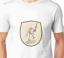 American Soldier Serviceman Armalite Rifle Cartoon Unisex T-Shirt