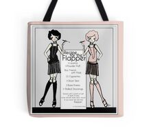 Gatsby Girl 1920s Recipe for Flapper  Tote Bag