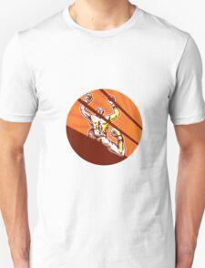 Amateur Boxer Winning Circle Cartoon T-Shirt