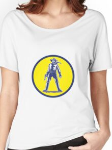 Cowboy Standing With Pistol Cartoon Women's Relaxed Fit T-Shirt