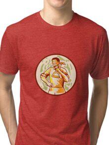Gardener Landscaper Shovel Cartoon Tri-blend T-Shirt