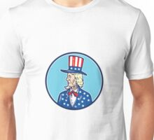 Uncle Sam TopHat American Flag Cartoon Unisex T-Shirt