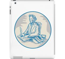 Victorian Gentleman Quill Signing Cartoon iPad Case/Skin