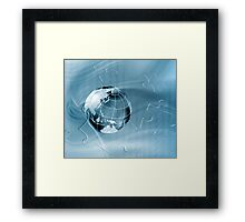 Geography abstract background Framed Print
