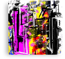 Abstract City in Wild Canvas Print