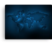 Black and blue map Canvas Print