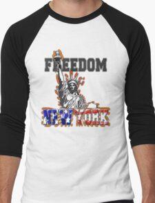 Freedom New York Men's Baseball ¾ T-Shirt
