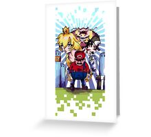 Bad Mario Greeting Card