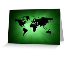 Green map Greeting Card