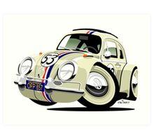 VW Beetle Herbie the Lovebug Art Print