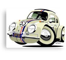 VW Beetle Herbie the Lovebug Canvas Print