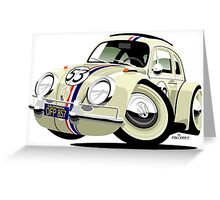 VW Beetle Herbie the Lovebug Greeting Card