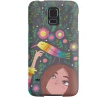 RAINBOW BIRD AND GIRL Samsung Galaxy Case/Skin