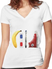 Allons-y my friend! Women's Fitted V-Neck T-Shirt