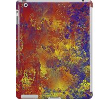 Abstract in Blue, Red, and Gold iPad Case/Skin