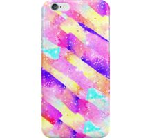 Abstract colorful rainbow watercolor brushstrokes iPhone Case/Skin