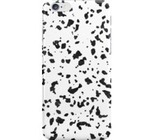 Abstract black watercolor Dalmatian spots pattern iPhone Case/Skin