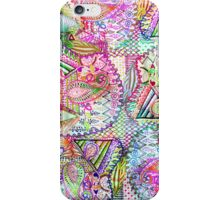 Abstract Girly Neon Rainbow Paisley Sketch Pattern iPhone Case/Skin