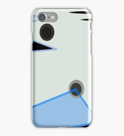 Abstract Design in Blue, Black, and White iPhone Case/Skin